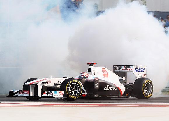 Sauber's Kamui Kobayashi