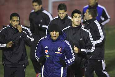 Venezuela team during a practice session