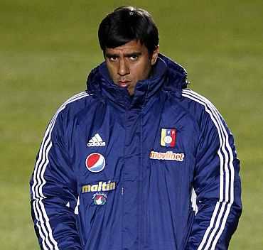 Venezuela coach Cesar Farias