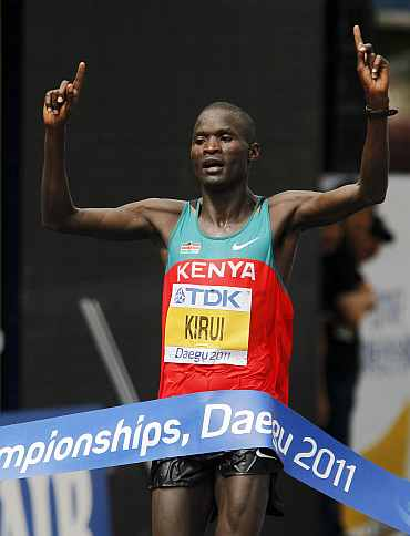 Abel Kirui wins gold for Kenya