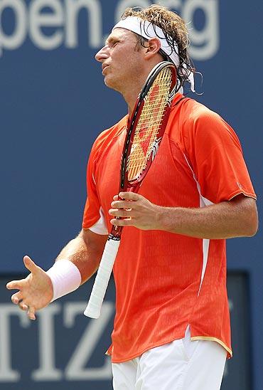 David Nalbandian rues missing an point against Rafael Nadal