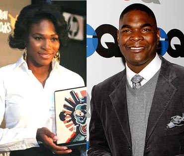 Serena Williams and Keyshawn Johnson