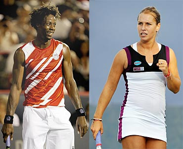 Gael Monfils and Dominika Cibulkova