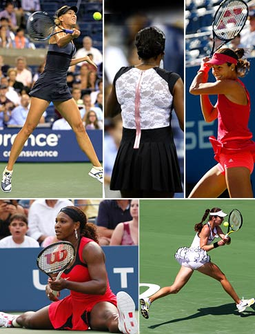 PHOTOS: Short or skimpy, it's fashion at the US Open