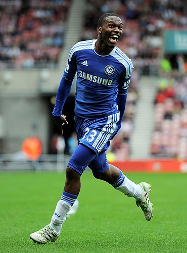 Daniel Sturridge of Chelsea celebrates after scoring