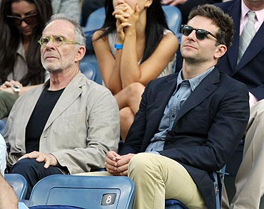 Bradley Cooper (right) and Ron Rifkin at the US Open men's final
