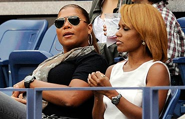 Queen Latifah at the US Open women's final between Serena Williams and Samantha Stosur