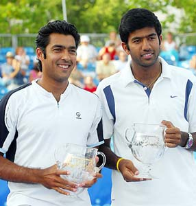 Aisam Qureshi with Rohan Bopanna