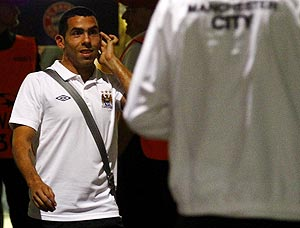 Carlos Tevez after Manchester City's Champions League match against Bayern