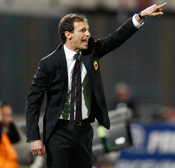 AC Milan coach Massimiliano Allegri