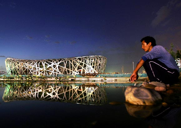 The Beijing National Stadium, also known as the Bird's Nest