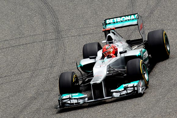 'To see Michael Schumacher up there is a great bonus for Formula One'
