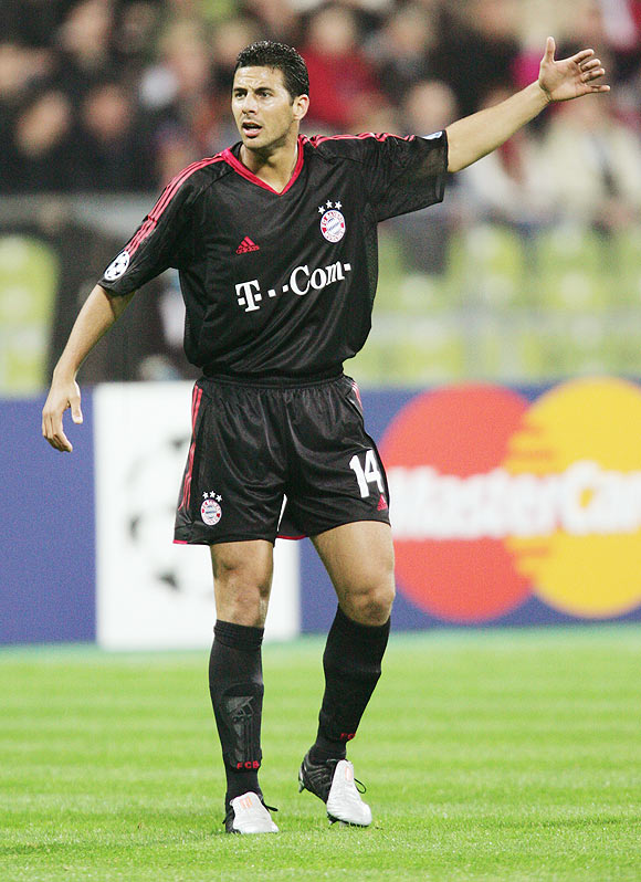 Claudio Pizarro during this Bayern Munich days