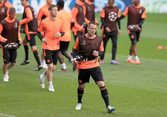 John Terry of Chelsea during a training session