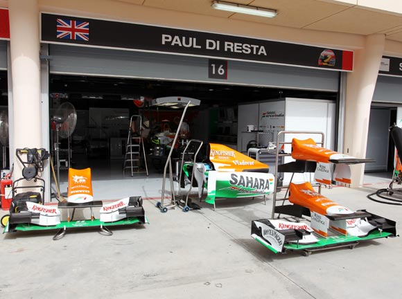 Two of the Force India's staff returned home