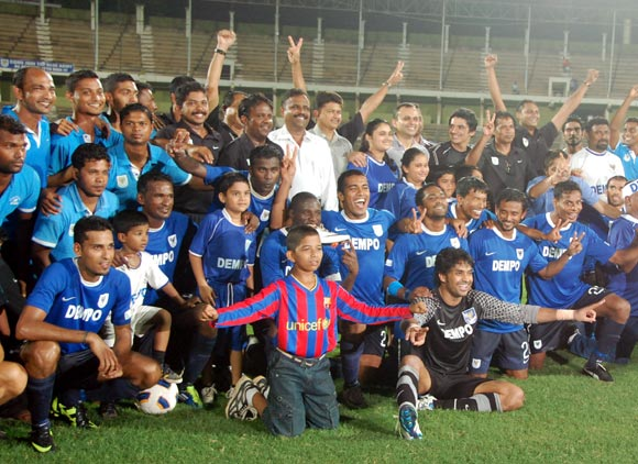Dempo's players celebrate