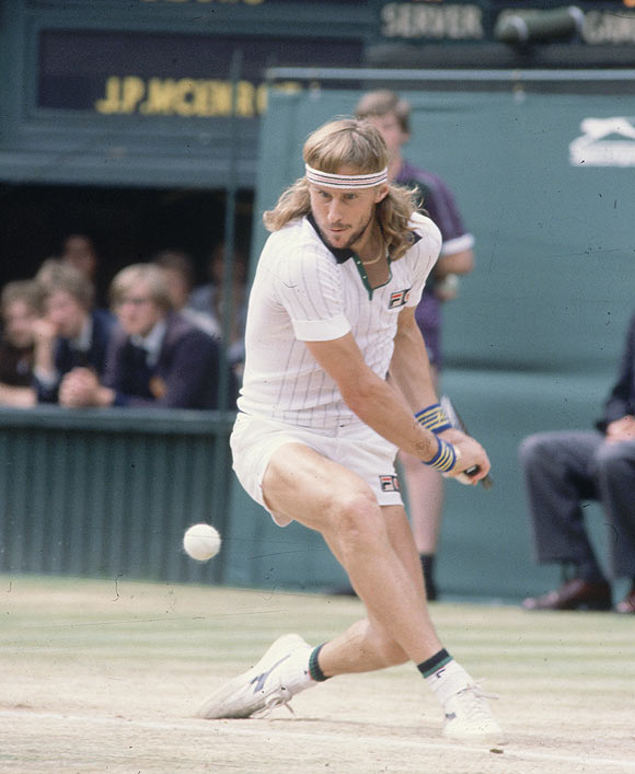 Of Borg's dominance at Wimbledon