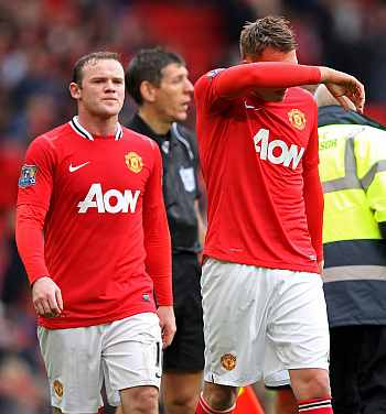 Wayne Rooney and Phil Jones
