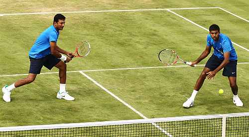 Bhupathi-Bopanna knocked out early