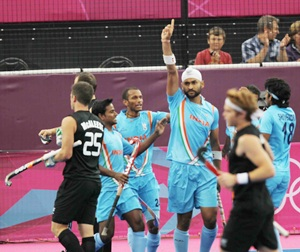 Sandeep Singh celebrates after putting India ahead
