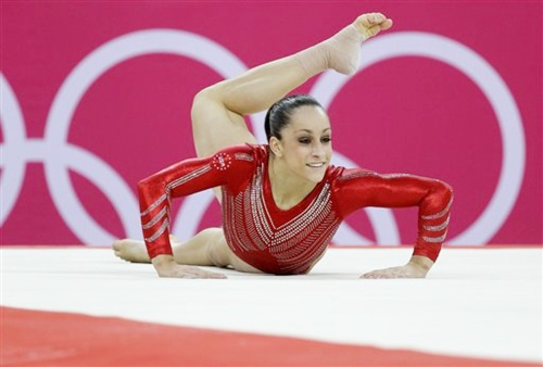 US gymnast Jordyn Wieber performs on the floor