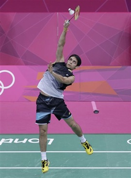 P Kashyap in action against Lee Chong Wei
