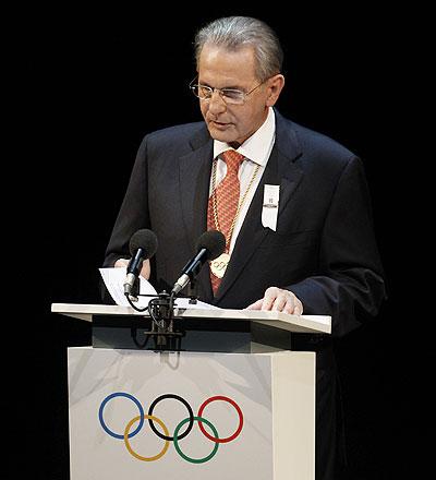 IOC chief Jaques Rogge