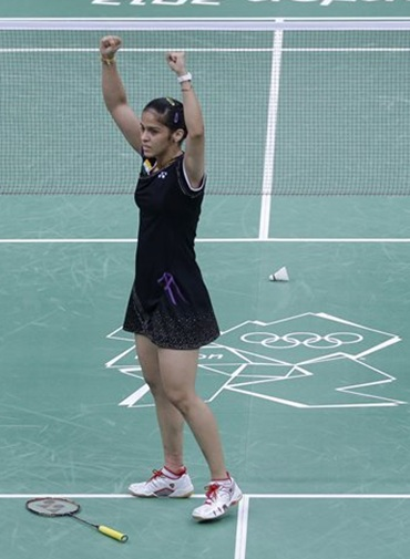 Saina Nehwal tames Tine Baun to enter semi-finals