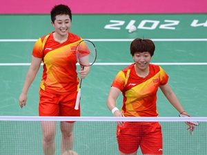 Yang Yu (L) and Xiaoli Wang