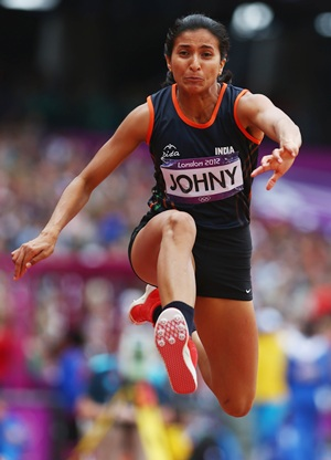 Triple jumper Mayookha Johny