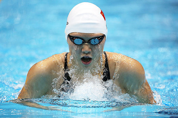 Shiwen Ye of China competes in the Women's 200m Individual Medley