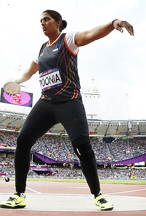 Poonia qualifies for discus throw final