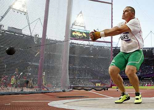 Hungary's Krisztian Pars competes in the men's hammer throw final