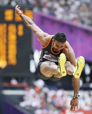 Triple jumper Renjith exits after fouling all attempts
