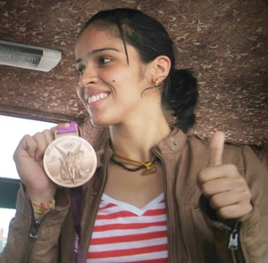 Saina Nehwal on arrival in Hyderabad