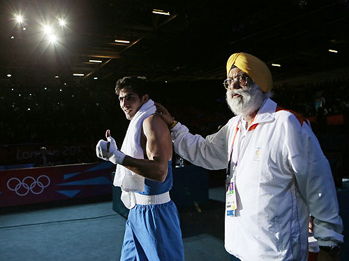 Vijender Singh with GS Sandhu
