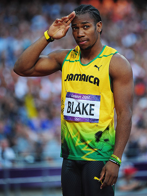 Yohan Blake of Jamaica