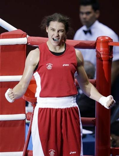 Ireland's Katie Taylor celebrates