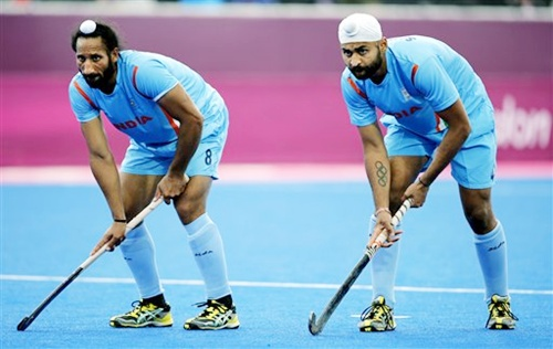 Sardar Singh with Sandeep Singh