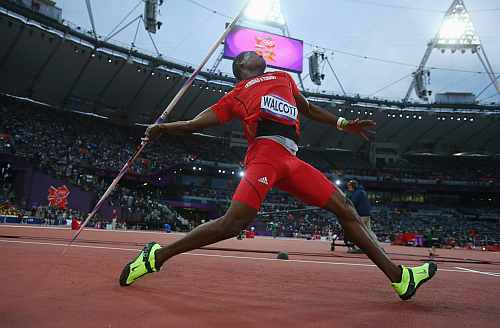 Keshorn Walcott of Trinidad and Tobago competes during the Men's Javelin Throw Final