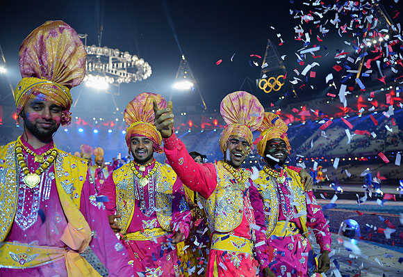 Brazillian artists for Rio 2016 perform during the Closing Ceremony on Day 16 of the London 2012 Olympic Games