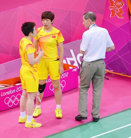 Wang Xiaoli and Yang Yu of China