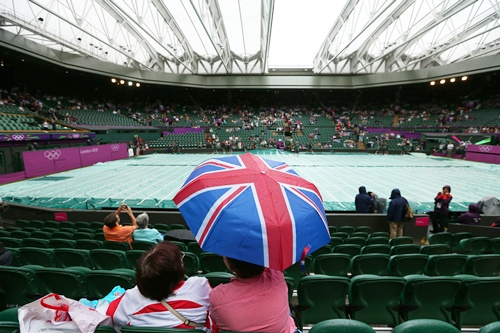 The roof closes on Centre Court