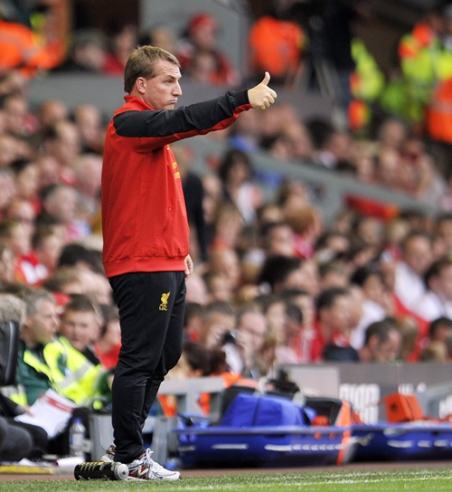 Brendan Rogers, manager of Liverpool
