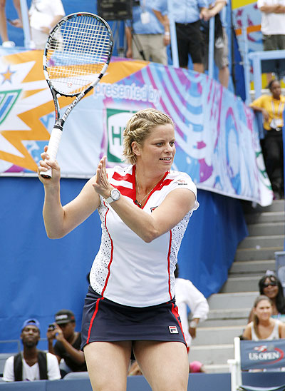 Kim Clijsters attends 2012 Arthur Ashe Kids' day on Saturday