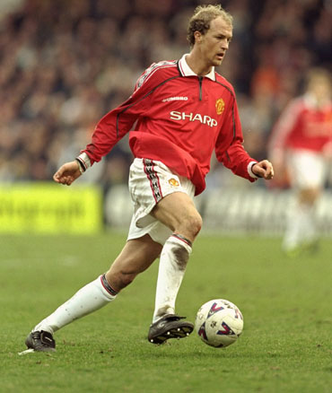 Jordi Cruyff of Manchester United on the ball against Wimbledon during the FA Carling Premiership match at Selhurst Park