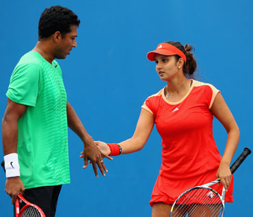 Mahesh Bhupathi and Sania Mirza