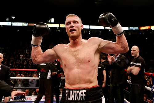 Andrew Flintoff celebrates after victory