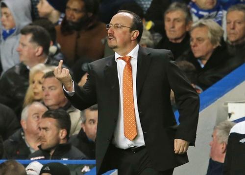 Chelsea's interim head coach Rafael Benitez