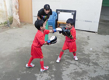 First Look: Mary Kom's adorable twins get sparring